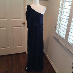 BCBG medium navy evening gown